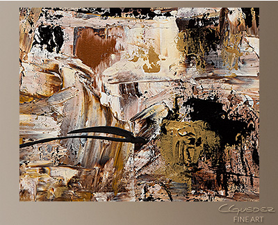 Touch of Gold Modern Abstract Art Painting -Wall Art Close Up