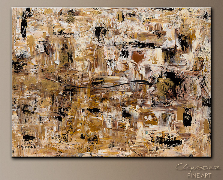 Touch of Gold - Abstract Art Painting Image by Carmen Guedez
