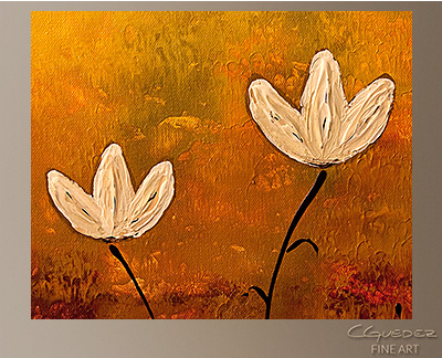 Touch of Nature Modern Abstract Art Painting -Wall Art Close Up