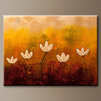 Abstract Art Canvas Paintings - Touch of Nature - Art Gallery