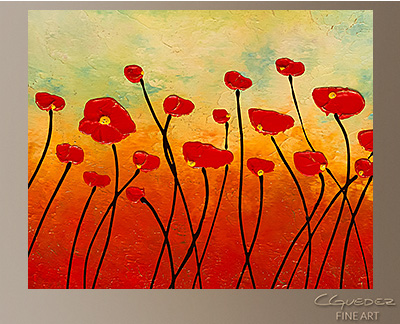 Touching the Sky Modern Abstract Art Painting -Wall Art Close Up
