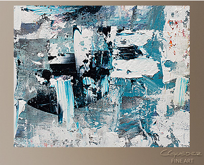 Tranquil Water Modern Abstract Art Painting -Wall Art Close Up