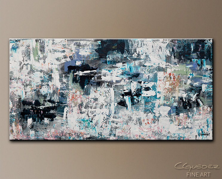 Tranquil Water - Abstract Art Painting Image by Carmen Guedez