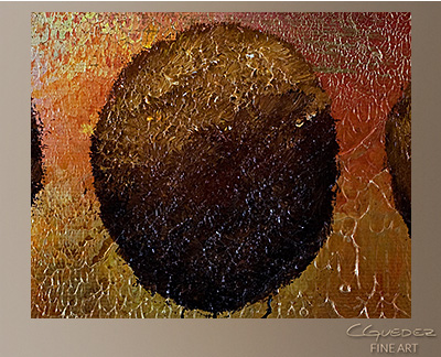 Tranquility Modern Abstract Art Painting -Wall Art Close Up