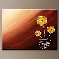 Modern Abstract Art Painting - Tre Fiori - Original Art