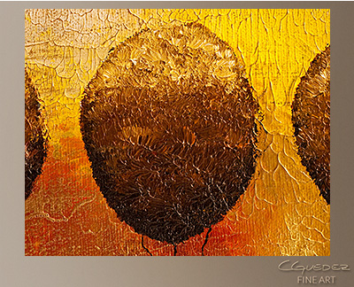 Trees in Paradise Modern Abstract Art Painting -Wall Art Close Up