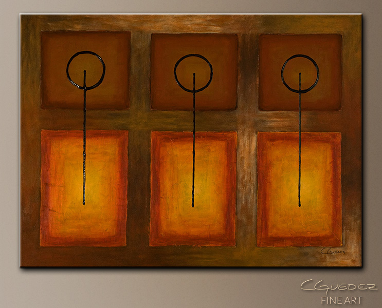 Tres Llaves - Abstract Art Painting Image by Carmen Guedez