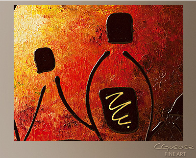 Tresors de Bourgogne Modern Abstract Art Painting -Wall Art Close Up