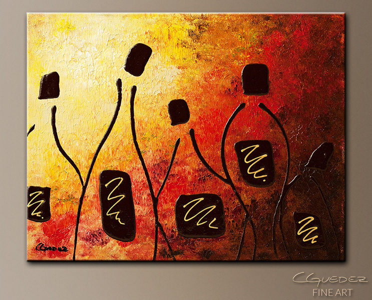 Tresors de Bourgogne - Abstract Art Painting Image by Carmen Guedez