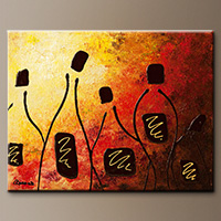 Wine Abstract Art Painting - Tresors de Bourgogne - Art Painting