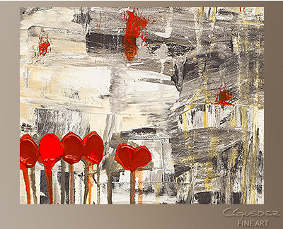 Un Pour Tous Modern Abstract Art Painting -Wall Art Close Up