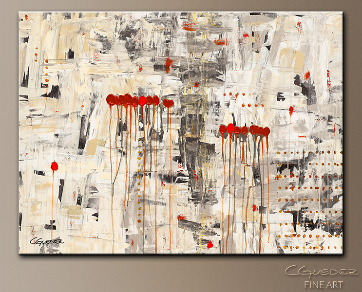 Un Pour Tous - Abstract Art Painting Image by Carmen Guedez