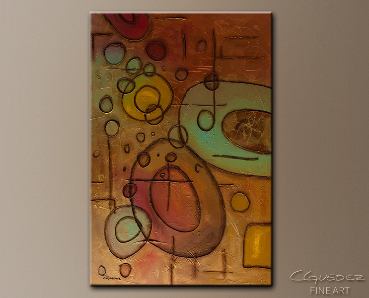 Urban Abstract - Abstract Art Painting Image by Carmen Guedez