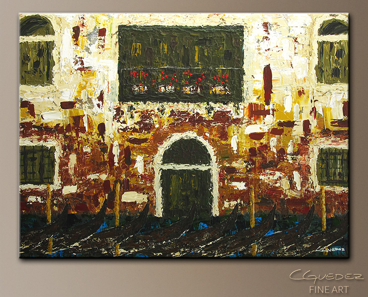 Venice in Spring - Abstract Art Painting Image by Carmen Guedez