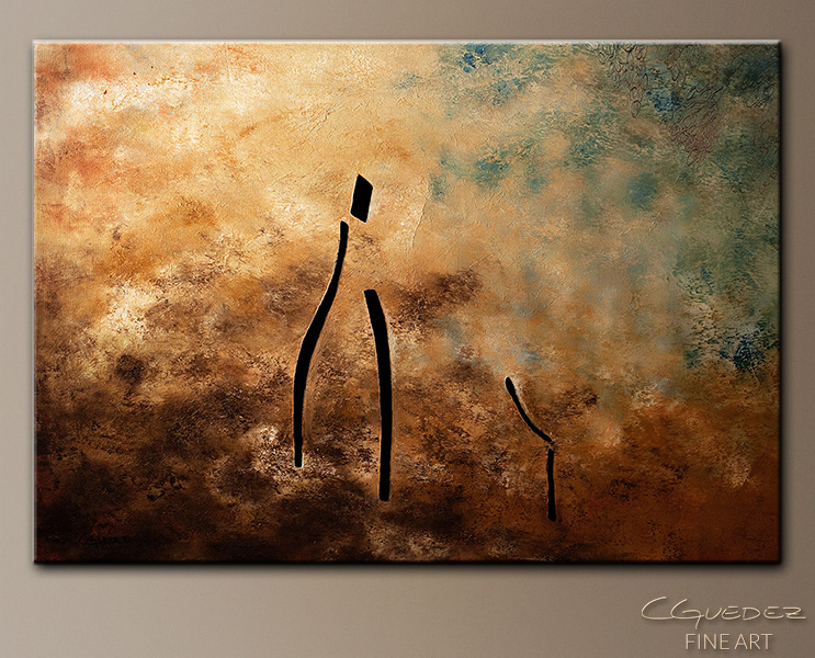 Vino de Arte Moderno - Abstract Art Painting Image by Carmen Guedez