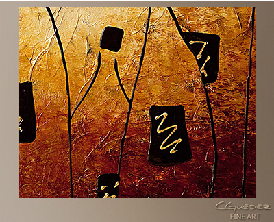 Vins de France Modern Abstract Art Painting -Wall Art Close Up