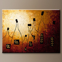 Large Abstract Art Painting - Vins de France - Art Gallery