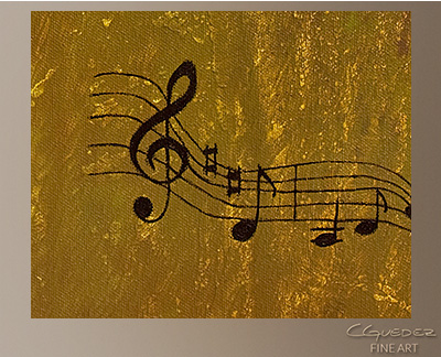 Violin Concerto Modern Abstract Art Painting -Wall Art Close Up