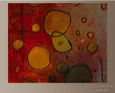 Voilà Modern Abstract Art Painting -Wall Art Close Up