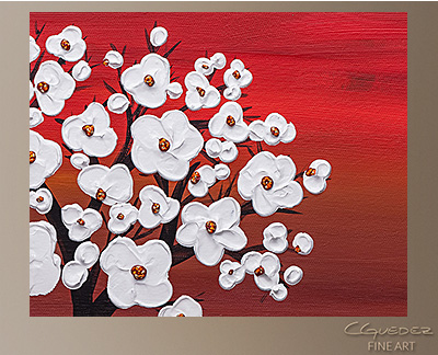 Wedding Flowers Modern Abstract Art Painting -Wall Art Close Up