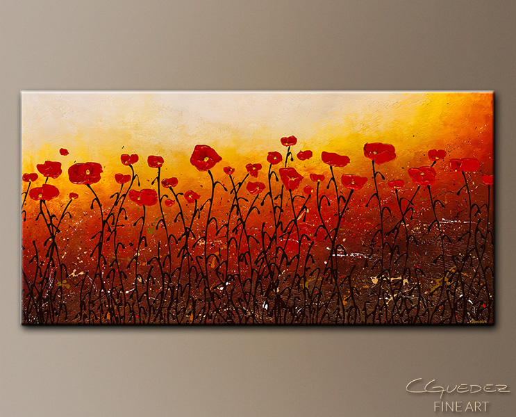 Where Faith Grows - Abstract Art Painting Image by Carmen Guedez