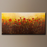 Modern Abstract Art Painting for Sale - Where Happiness Grows - Large Abstract