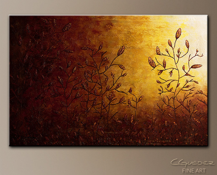 Where I Grew Up II - Abstract Art Painting Image by Carmen Guedez