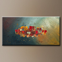Abstract Art Painting - Winds of Prosperity - Art Painting