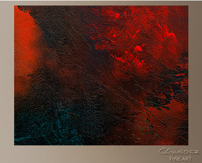 Wonderland Modern Abstract Art Painting -Wall Art Close Up