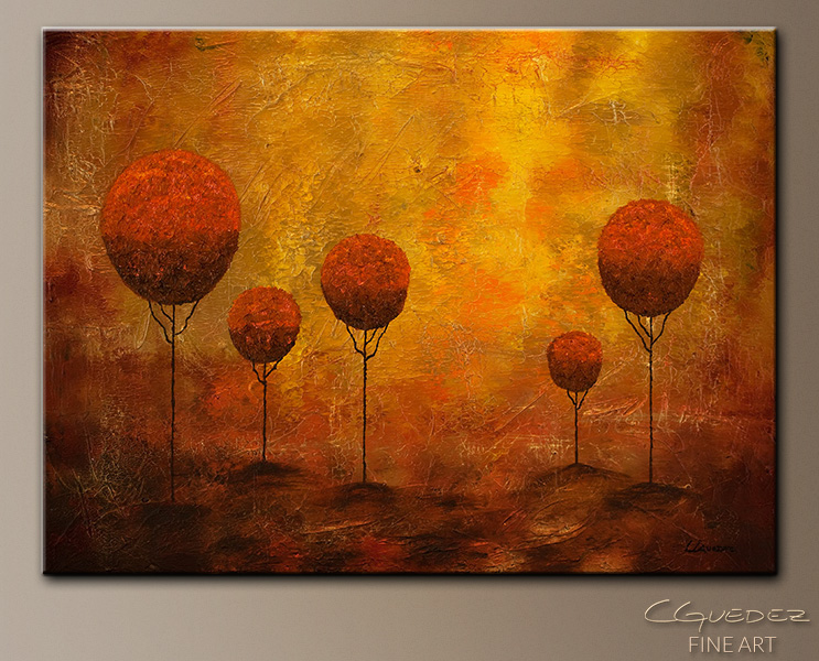 Woodland - Abstract Art Painting Image by Carmen Guedez