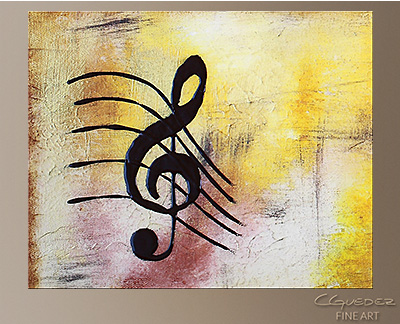 Write Me a Song Modern Abstract Art Painting -Wall Art Close Up