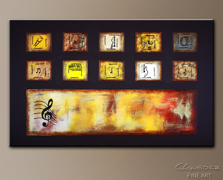 Write Me a Song - Abstract Art Painting Image by Carmen Guedez