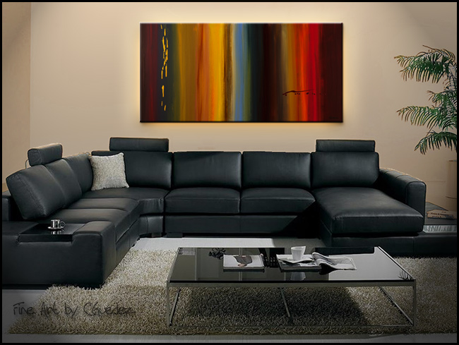 Dripping Gold-Modern Contemporary Abstract Art Painting Image