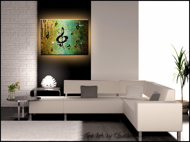 Cosmic Jam-Modern Contemporary Abstract Art Painting Image