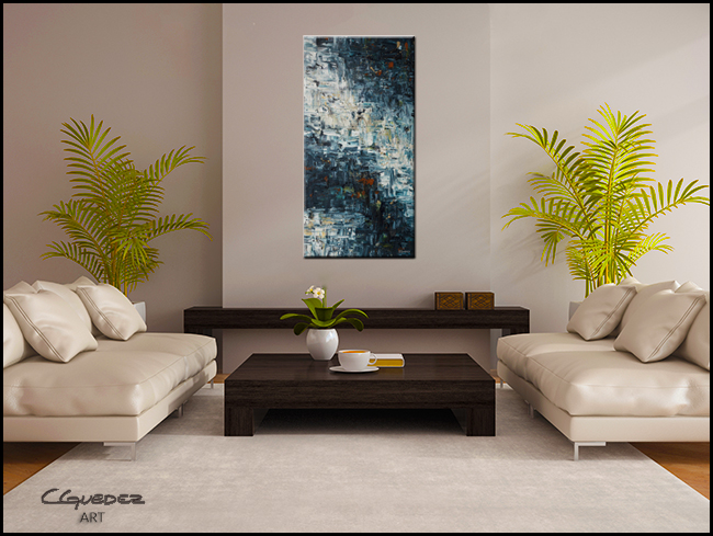 Island Falls-Modern Contemporary Abstract Art Painting Image