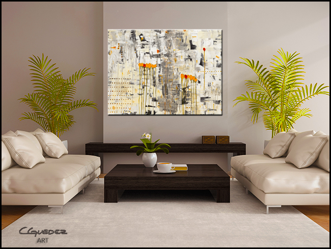 Tous Pour Un-Modern Contemporary Abstract Art Painting Image