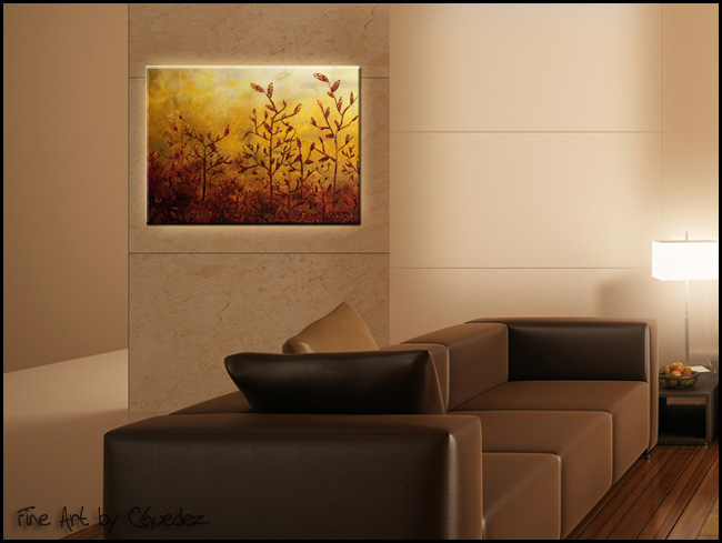 Enchanted Memories-Modern Contemporary Abstract Art Painting Image