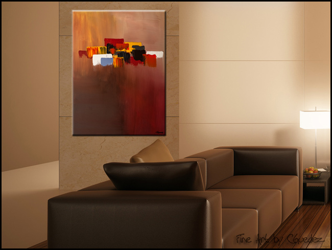 Fair Winds-Modern Contemporary Abstract Art Painting Image