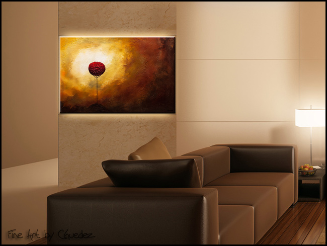 La Vie est Belle-Modern Contemporary Abstract Art Painting Image