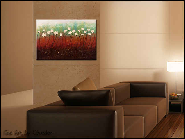 Summer Flowers-Modern Contemporary Abstract Art Painting Image