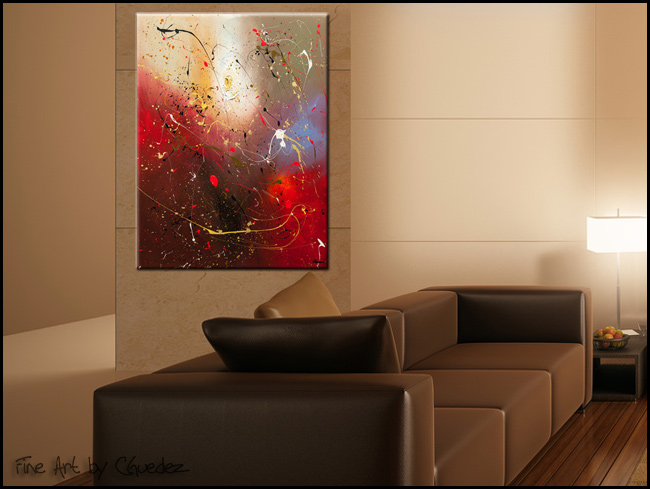 The Fleur-Modern Contemporary Abstract Art Painting Image