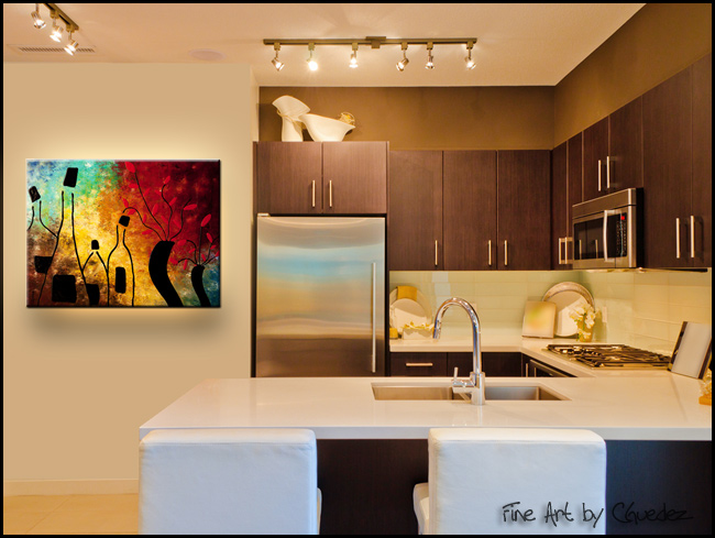 Deco Vino-Modern Contemporary Abstract Art Painting Image