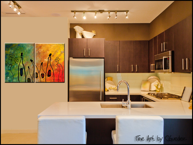 Wine Festival-Modern Contemporary Abstract Art Painting Image