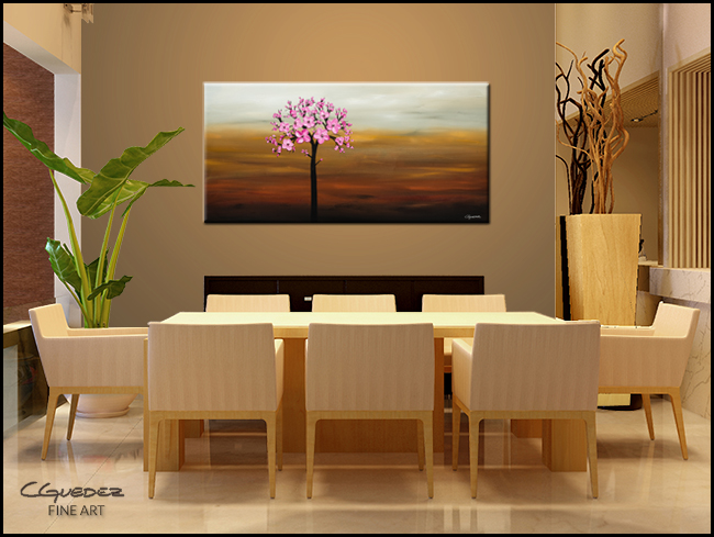 Cherry Blossom-Modern Contemporary Abstract Art Painting Image