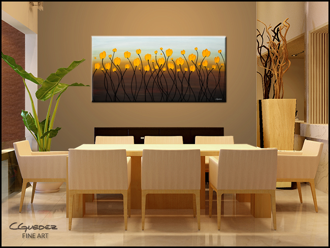 Dancing Tulips-Modern Contemporary Abstract Art Painting Image