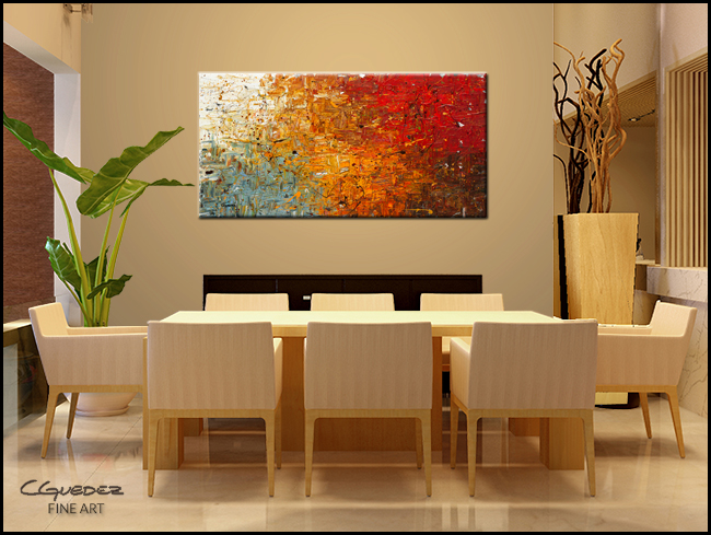 Running Free-Modern Contemporary Abstract Art Painting Image