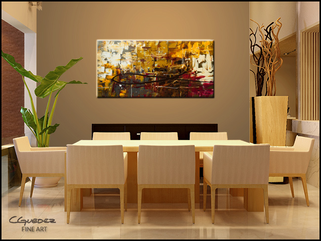 Tuscan Potpourri Modern Contemporary Abstract Art Painting Image