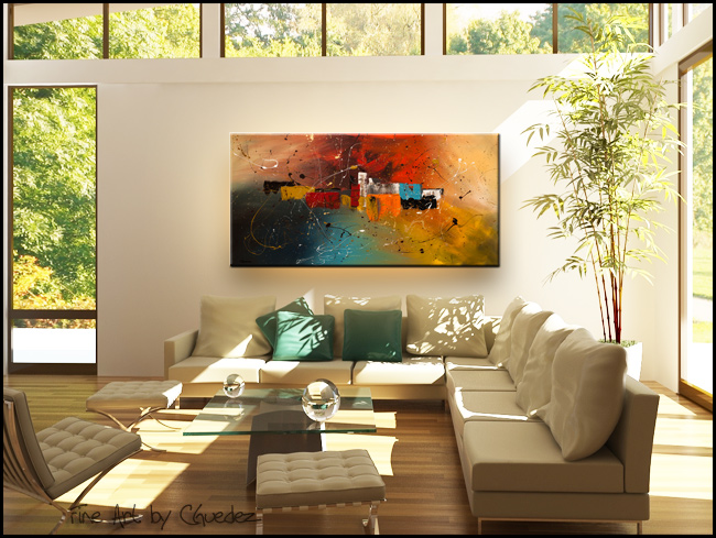 Celebration-Modern Contemporary Abstract Art Painting Image