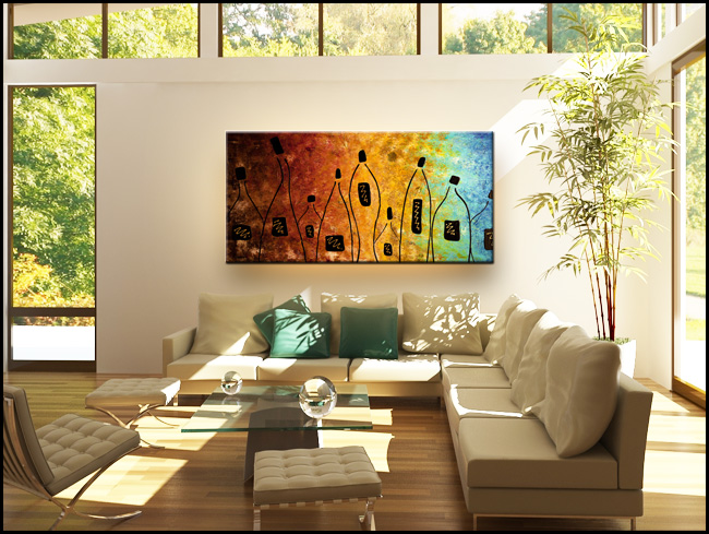 Cocktail Bar-Modern Contemporary Abstract Art Painting Image