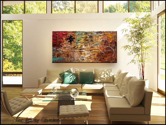 Good Fortune-Modern Contemporary Abstract Art Painting Image